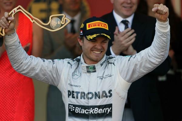 F1. 2013 GP de MONACO Nico ROSBERG la joie de la victoire sur le podium