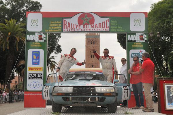 MAROC HISTORIQUE 2013 La SM CITROEN de Fred DAUNAT et Thibault de WAZIERES - Photo David GIARD pour autonewsinf