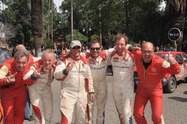 MAROC HISTORIQUE 2013 Les équipages CITROEN sont HEUREUX- Photo David GIARD pour autonewsinfo