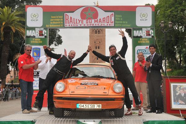 MAROC HISTORIQUE 2013 Les 3émes Antoine VANDROMME et Yoann RAFFAELLI - Photo David GIARD pour autonewsinfo