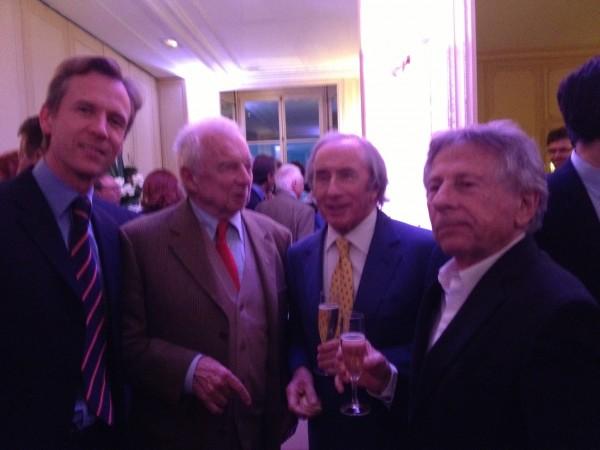 ROMAN POLANSKI avec Jackie STEWART Ludovic CARON et Jean Pierre BELTOISE