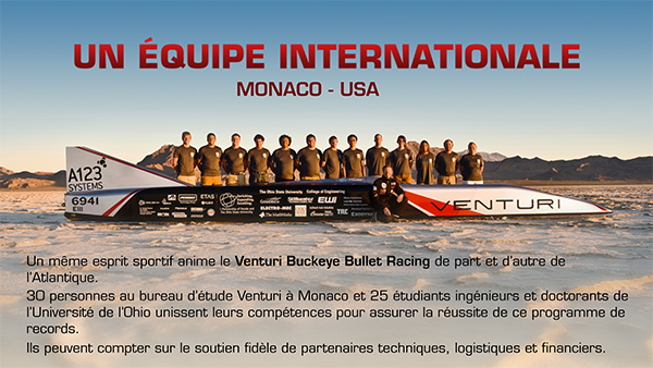 VENTURI ELEC UNE EQUIPE INTERNATIONALE