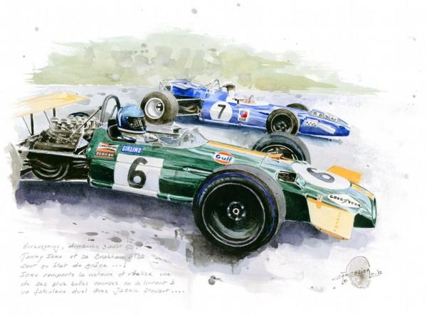 VERNISSAGE-NICOLAS-CANCELIER-La-Brabham-BT-26-Jacky-ICKX-et-la-Matra-de-Jackie-STEWART