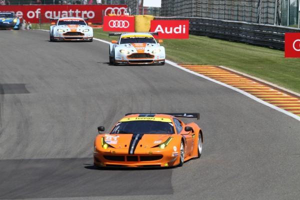 WEC 2013 SPA La Ferrari F458 de POTOLICCHIO-AGUAS-MALUCELLI leader en LMGTE AM-© Manfred GIET- pour autonewsinfo