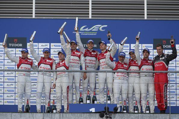 WEC-2013-SPA-PODIUM-100-AUDI-avec-victoire-Audi-1-Treluyer-Fassler-Lotterer