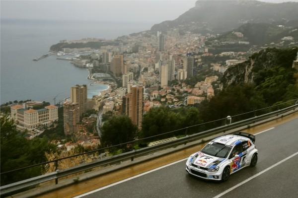 WRC 2013  Rallye MONTE CARLO - La VW POLO de Seb OGIER arrive a MONACO en seconde position au classement final du Rallye MONTE CARLO 2013 - photo Jo LILLINI