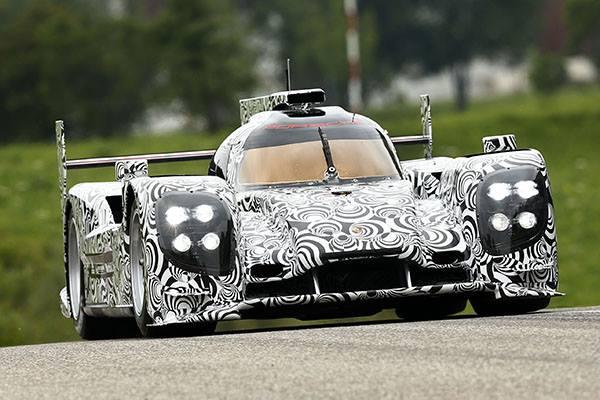 La nouvelle Porsche LMP1 dans sa version ''camouflage''