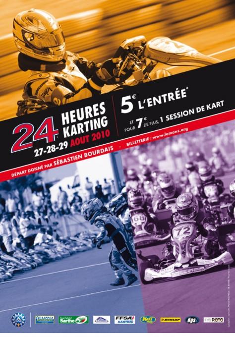 24 H DU MANS Karting affiche 2010