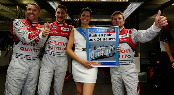 24 HEURES DU MANS 2013 AUDI N°2 EN POLE Photo autonewsinfo