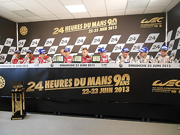 24-HEURES-DU-MANS-2013-Les-trois-equipages-vicctorieux-en-conference-AUDI-2-TOYOTA-8-et-AUDI-3-photo-Gilles-VITRY