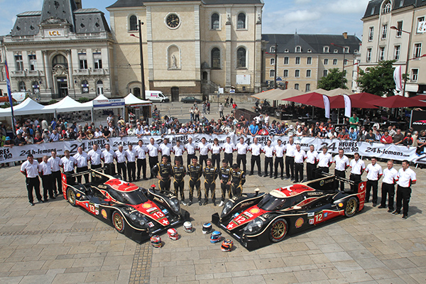 24 HEURES DU MANS 2013 - Pesage - Les deux LOLA du Team Suisse REBELLION - Photo Gilles VITRY - autonewsinfo.com