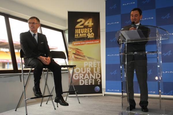 ALPINE 2013 Pierre FILLON ACO et Carlos TAVARES annoncent le retour ALPINE au MANS Photo Frederic VEILLARD pour autonewsinfo
