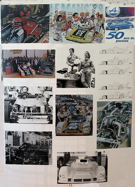 ALPINE-SAGA-2013-DIEPPE-TABLEAU-AVEC-DES-PHOTOS-Souvenirs-DU-MANS-Photo-Gilles-VITRY-autonewsinfo.com
