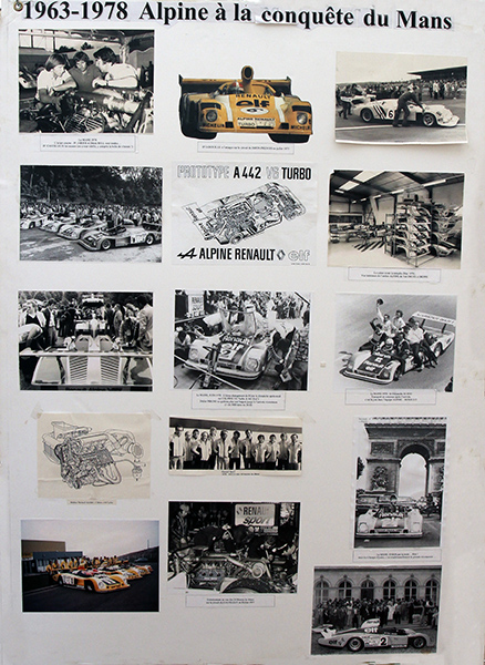 ALPINE-Tableau-de-photos-Historique-au-MANS-Photo-Gilles-VITRY
