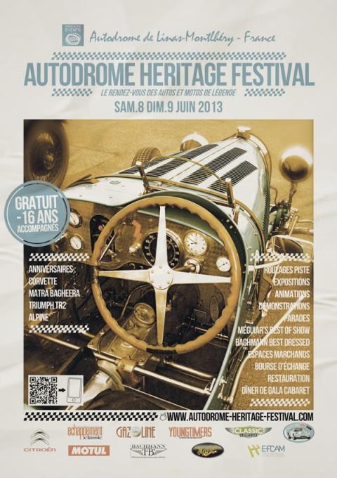 AUTODROME MONTLHERY FESTIVAL Affiche 2013