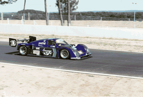 COURAGE Le Mans 1990 en piste-C24 Photo Yves COURAGE.