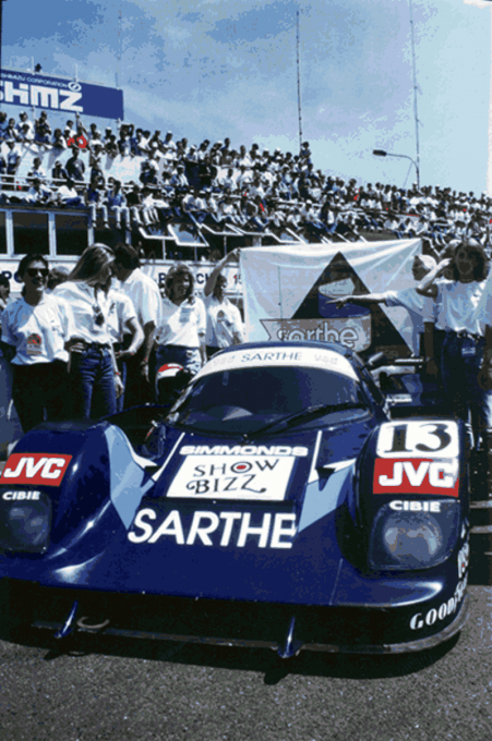 COURAGE-Le-Mans-1990-grille-de-départ-C24-de-Michel-TROLLE-Pascal-FABRE-Lionel-ROBERT-Photo-Collection-COURAGE