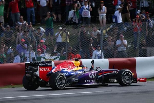 F1 2013 CANADA VETTEL vainqueur du GP a MONTREAL le 9 juin