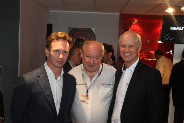 F1 Presentation du Moteur RENAULT ENERGY 2014 - Chris HORNER et Jean Michel JALINIER avec Gilles GAIGNAULT - LE Bourget 21 juin 2013 Photo Gilles VITRY - autonewsinfo