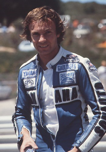 PATRICK PONS portrait aux 200 Miles de DAYTONA mars 1980 - photo Promocourse SEITA