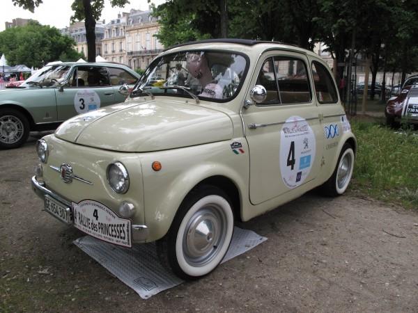 RALLYE DES PRINCESSES 2013-La FIAT 500D de1963  -INOUBLIABLE