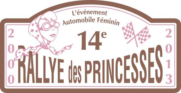 RALLYE DES PRINCESSES 2013  PLAQUE DE COURSE DES PRINCESSES