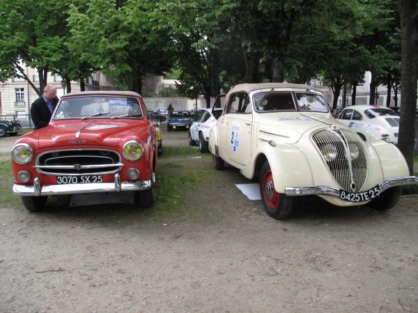 RALLYE DES PRINCESSES 2013 Peugeot 203 et 403