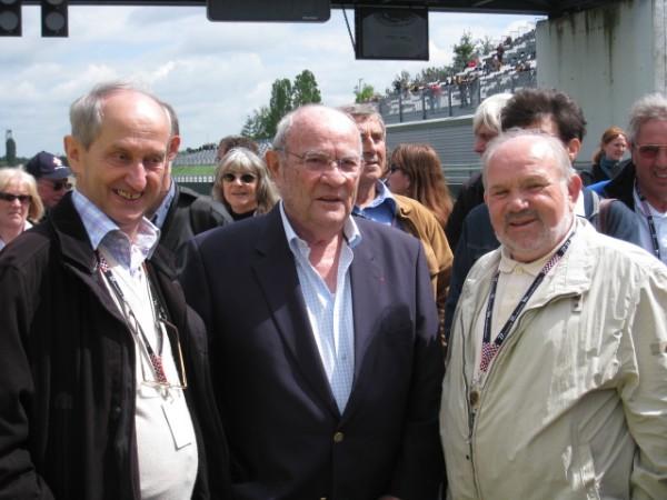 Trois personnalités du circuit de MAGNY COURS - Tico MARTINI - GUY LIGIER et le Sénateur de la Nièvre Marcel CHARMANT - photo aurtonewsinfo