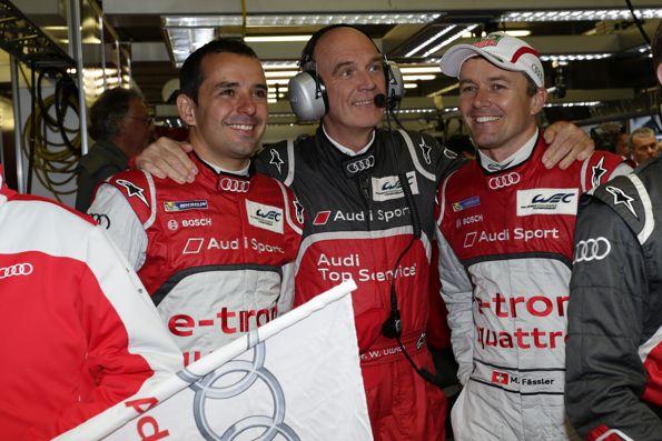 WEC-2013-SPA-Dr-ULLRICH-avec-TRELUYER-et-FASSLER-assistent-au-succes-de-LOTTERER-Audi-N°-1