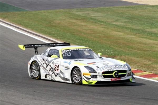 24-HEURES-DE-SPA-2013-Essais-libres-La-Mercedes-SLS-AMG-HTP-de-Schneider-Buhk-Götz-la-plus-rapide-aux-essais-libres-©-Manfred-GIET