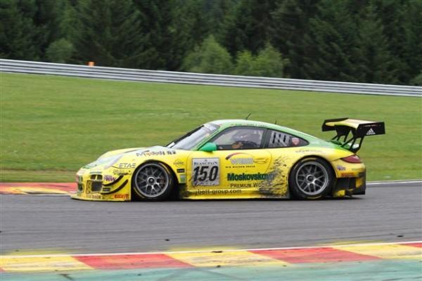 24-HEURES-DE-SPA-2013-La-Porsche-de-Lieb-Lietz-Pillet-termine-deuxième-©-Manfred-GIET