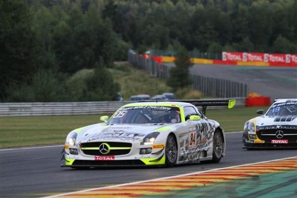 24-HEURES-DE-SPA-2013-essais-chronos-jeudi-soir-La-meilleure-Mercedes-SLS-HTP-termine-5ème-©-Manfred-GIET.