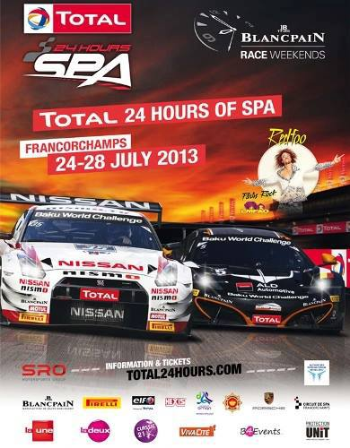 24 HEURES SPA 2013 Affiche