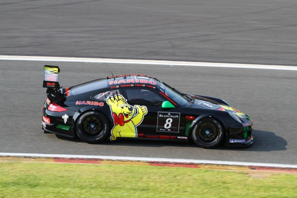 24 HEURES SPA 2013 La PORSCHE 997 GT3 R du TEAM HARIBO RACING FORFAIT-© Manfred GIET