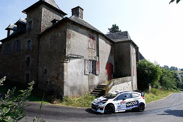 RALLYE-DU-ROUERGUE-2013- Julien Maurin et sa FORD FIESTA