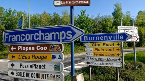 CIRCUIT SPA plaques routieres photo RST