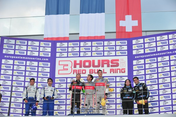 ELMS 2013 RED BULL RING- 20 juillet - Podium - 1 Team Thiriet - 2 Alpine Signatech - 3 Morand Racing - photo VISION SPORT Agency pour autonewsinfo