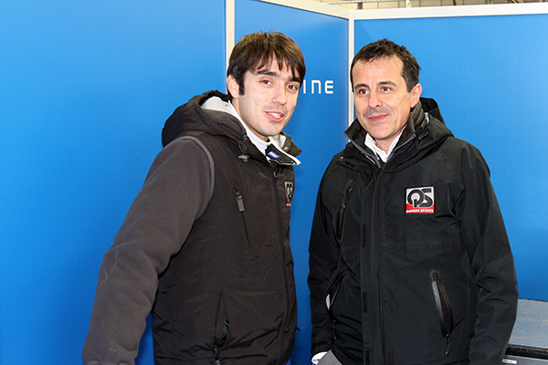 ELMS-2013-SILVERSTONE-Pierre-RAGUES-et-son-manager-Ange-PASQUALI-Photo-Gilles-VITRY-autonewsinfo