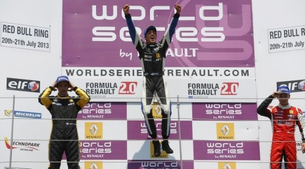 EUROCUP-FORMULE-RENAULT-RED-BULL-RING-2013-Podium-1-Ignazio-D-Agosto-de-KTR-premier-succès-en-Eurocup-2-William-Vermont-ARTA-Engineering-et-3-Ed-Jones-de-Fortec-Motorsports.