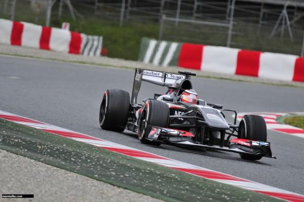 F1 2013 BARCELONE Essai du 28 fevrier au 3 mars SAUBER FERRARI Photo MAX MALKA