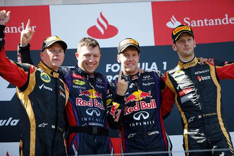 F1 2013 NURBURGRING LE PODIUM Photo PIRELLI