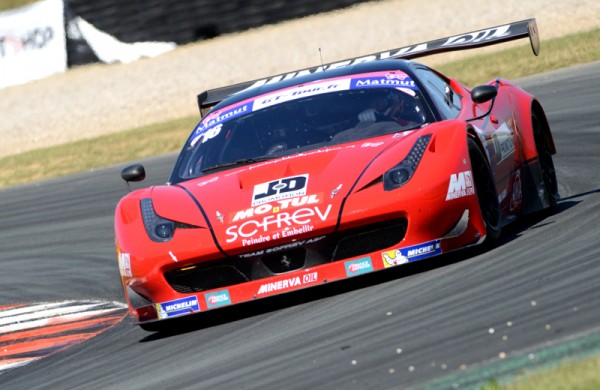 GT-TOUR-2013-LE-VIGEANT-1er-COURSE-1-MOULIN-TRAFFORT-BARTHES-FERRARI-F458-ASP-SOFREV-photo-Claude-MOLINIER