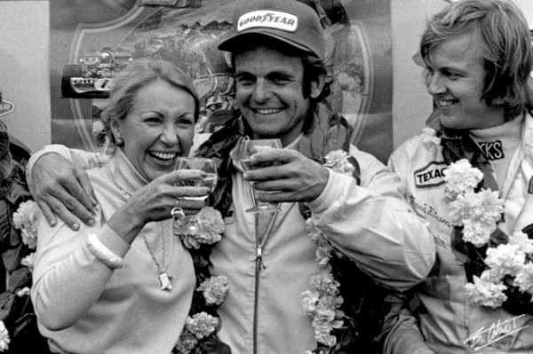Joanie CAHIER, Peter REVSON, Ronnie PETERSON 1973