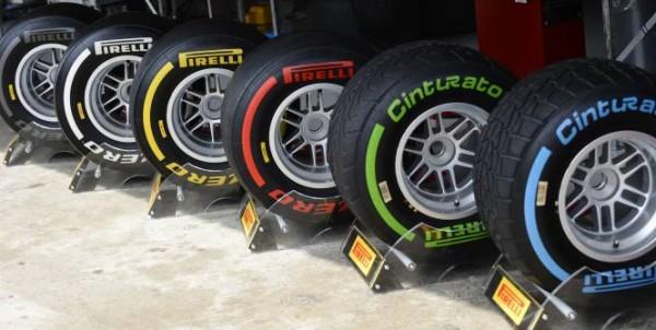PIRELLI Les gommes et couleurs pour 2013 en F1