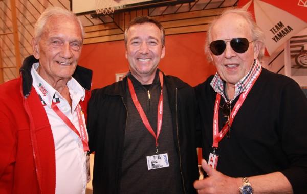 ST CERGUE 2013 - 3 anciens CHAMPIONS du MONDE - Jim REDMAN - Freddy SPENCER et  Phil READ