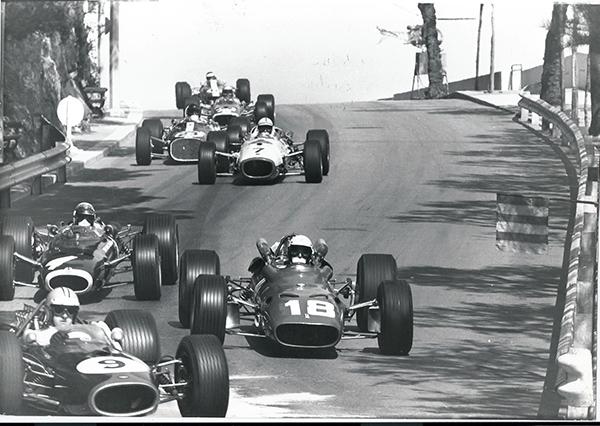 ZURINI-GP-MONACO-Hulme-Bandini-Stewart-Surtees-Gurney-Mclaren-et-Jimmy-Clark