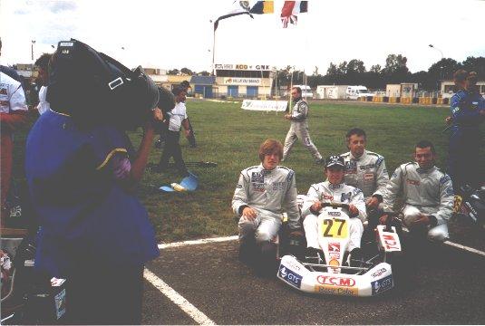 24-H-du-Mans-Kart 2001- Francois Hurel dispute ses 16émes 24Heures avec trois jeunes de... 16 ans, Peps-Gaignault-Fabien Sarailh et Fabien Boukobza