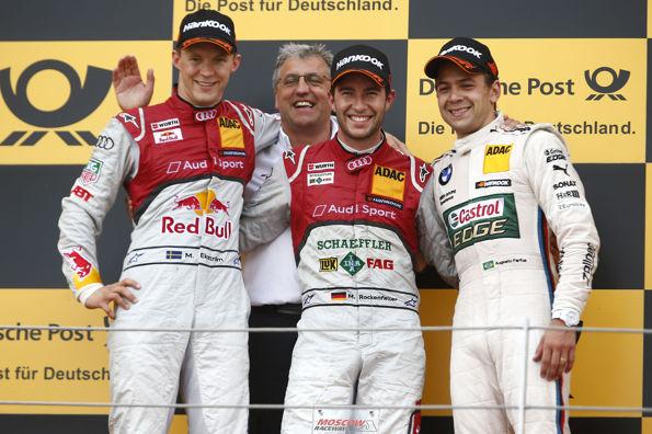 DTM-2013-MOSCOU-le-podium-avec-Ernst-MOSER-AUDI-et-les-3-premiers-ROCKENFELLER-EKSTROM-et-FARFUS