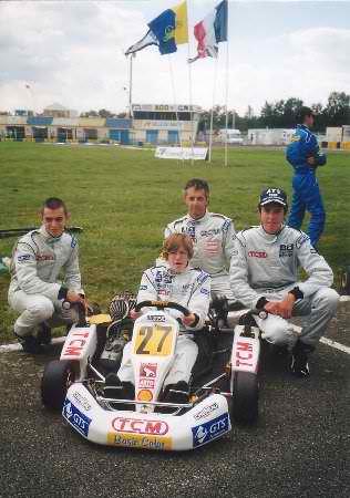 KARTING-2001-24-HEURES-DU-MANS-TEAM-TCM-avec-Franois-HUREL-Peps-GAIGNAULT-Fabien-SARAILH-et-Florian-BOUKOBZA