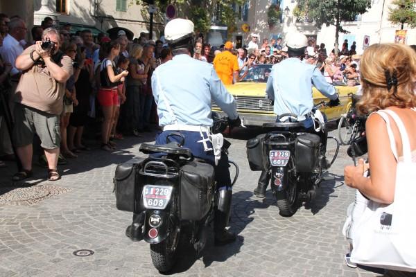 TOURVES - les motards en tenue d'époque - 15 Aout 2013 Photo Alain ROGER.